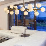 Candelabro de vidro moderno da decoração interior da lâmpada do pendente