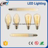 Bulbo do filamento do diodo emissor de luz T64 com certificações do UL de RoHS do CE