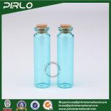 (5ml 10ml 20ml) botella de cristal vacía del regalo del color de la botella de cristal azul clara transparente del corcho