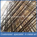 Перегородка экрана Hall стены декоративного металла качества Hight нутряная складывая