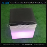 Fábrica de plástico LED de color LED cubo asientos de la barra