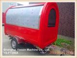 Ys-FT280A Food Truck Carros de comida móvel para venda com janela de deslizamento de vidro