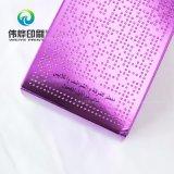 Caixa de empacotamento roxa delicada do papel de impressão (para o champô)