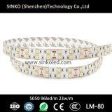 5050 96LEDs IP68は二重線LEDのリボンライトを防水する