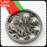 Venta al por mayor de alta calidad de la medalla de metal de encargo con la cinta