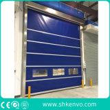 Portas industriais de alta velocidade do obturador de rolamento do armazém da tela do PVC