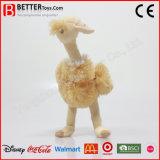 고품질 연약한 박제 동물 견면 벨벳 타조 장난감