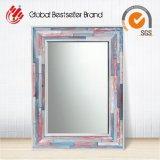 Antike aufbereiteter hölzerner Rahmen-Wand-Spiegel (LH-423629)
