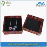Decorativo Custom Logo impresa papel caja de regalo de joyería para el anillo y el collar