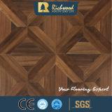 Pavimentazione di legno orlata del laminato incerata teck di legno di struttura della plancia del vinile della venatura del legno