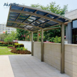 Moderner Sonnenschutz-Aluminiumpolycarbonat-Autoparkplatz