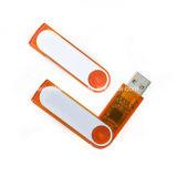 Mecanismo impulsor plástico del flash del USB de Pendrive del disco de destello del USB del eslabón giratorio