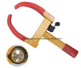 Красная и желтая портативная струбцина колеса для автомобиля для мотоцикла