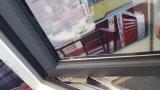 Finestra di vetro di alluminio dell'oscillazione/finestra della stoffa per tendine con vetro fisso
