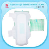 Garniture sanitaire de femmes remplaçables sèches et confortables de vente chaude avec l'ion négatif