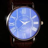 312 de Hete Glas van het van de Bedrijfs verkoop Yazole Goedkope Prijs van het Polshorloge van het Paar van het Horloge Blauwe