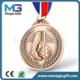 普及したカスタマイズされたフットボールの試合3Dメダル