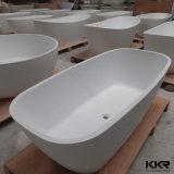 La porcelaine sanitaire de la résine Surface solide de Pierre Salle de bain Baignoire autostable (171201)