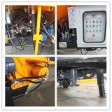 Pompe portative en acier de mélangeur concret de remorque de la plaque 450L de mélangeur de tambour de la fabrication 8mm de poulie profondément avec la vente chaude d'énergie électrique en Indonésie (JBT40-P)