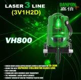 Danpon Nivel de láser verde autonivelante Tres vigas con puntos de plomada Vh800