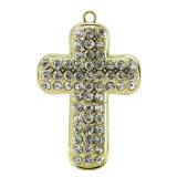 Diamond Cross Necklace 32 Go Lecteur Flash USB Stick Memorial