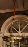 吊り下げ式ライトをハングさせる良質の鳥籠の高級ホテルのレストラン