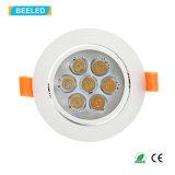 高品質7Wの純粋で白い点ライトDimmable LED Downlight