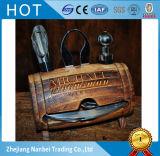 Baril en bois de cru fait sur commande pour des trousses d'outils de vin