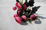 Quilityの人工花の絹のツバキの茶ローズの高い花