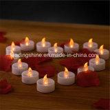 Янтарной желтой теплой белой пластичной эксплуатируемая батареей мелькая непламенная свечка света чая СИД