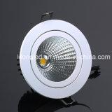 105mm 장착 구멍 12W LED 옥수수 속 천장 Downlight를 점화하는 LED