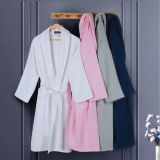 100% Algodão Waffle Hotel Women Bathrobe / Robes