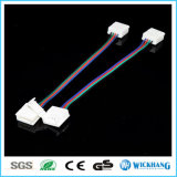 10mm 4 Speld Twee Schakelaar met Kabel voor Licht van de LEIDENE SMD het 5050 RGB Waterdichte LEIDENE Strook