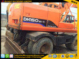 Excavador usado 150W-7, excavador usado 150-7 de la rueda de Doosan