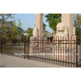 Personnalisés décoratifs industriel résidentiel élégant clôture en acier galvanisé