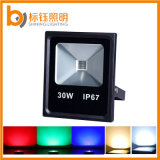 AC85-265V Outdoor Ultrathin Park Garden 30W RGB LED Flood Light