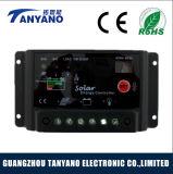 Cc PWM12V/24V 10um controlador de carga solar para iluminação