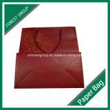 El oro Stampping caliente Bolsa de compras de papel para embalaje
