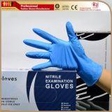 Темно-синий порошок свободного текстурированные нитриловые перчатки