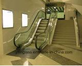 Glace durci et de sûreté d'escalator