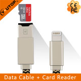Lightning Data Charging Cable + Microsd OTG Card Reader (YT-RC001)