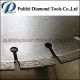 Segmento de diamante cortando solda de laje de granito na serra de pedra