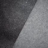 Кожа PVC яркия блеска выбитая Weave для украшения дома стены