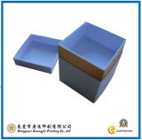 Blaues Papier-Geschenk-verpackenkasten (GJ-Box517)