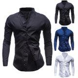 Chemise habillée à manches courtes 100% coton à manches longues (A443)