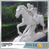 Statue di pietra intagliate granito naturale bianco animale/scultura per la decorazione del giardino