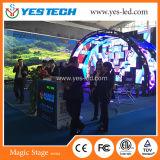 Muestra curvada acontecimiento de alquiler de interior de la visualización de LED del fondo de etapa
