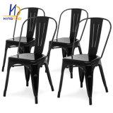Retro antiguos baratos Réplica de la cafetería Industrial exterior apilable de comedor silla Tolix Metal Vintage