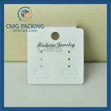 Cartão de exibição de brinco de alta qualidade com papel de textura coberto (CMG-070)