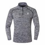 体操の適性の連続したトレーニングは長い袖メンズTシャツに乾燥合った